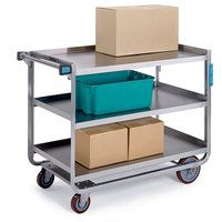Lakeside 944 Extra Heavy Duty Stainless Steel 3 Shelf Utility Cart - 22 3/4 inch x 39 inch x 37 3/8 inch