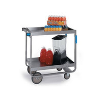 Lakeside 527 Heavy Duty Stainless Steel 2 Deep Shelf Utility Cart -22 1/4 inch x 38 inch x 37 1/4 inch