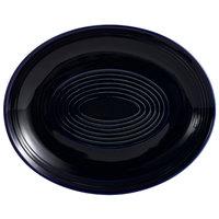 CAC TG-14C-CBU Tango 12 3/4 inch x 10 1/4 inch Cobalt Blue Coupe Oval Platter - 12/Case