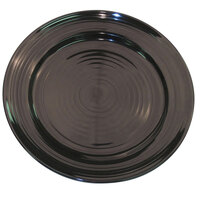CAC TG-6-BLK Tango 6 1/2 inch Black Round Plate - 36 / Case