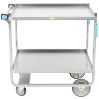 Lakeside 743 Heavy Duty Stainless Steel 2 Shelf Utility Cart - 22 3/8 inch x 38 5/8 inch x 37 1/8 inch