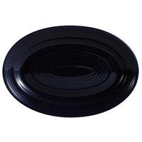 CAC TG-13-CBU Tango 11 3/4 inch x 8 inch Cobalt Blue Oval Platter - 12/Case