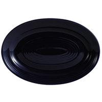 CAC TG-14-CBU Tango 13 5/8 inch x 9 3/8 inch Cobalt Blue Oval Platter - 12/Case