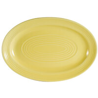 CAC TG-51-SFL Tango 15 3/4 inch x 11 inch Sunflower Oval Platter - 12/Case