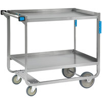 Lakeside 558 Heavy Duty NSF Stainless Steel 2 Shelf Utility Cart - 22 3/8 inch x 54 5/8 inch x 37 inch