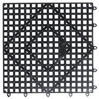 San Jamar VM5280BK-12 Versa-Mat® 12 inch x 12 inch Black Interlocking Bar Matting - 12 / Case
