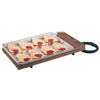 Hatco GR-B Glo-Ray Copper 13 inch x 22 inch Portable Food Warmer with Heated Base - 120V, 250W
