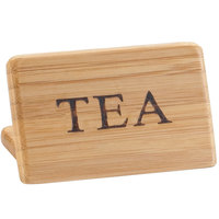 Cal-Mil 606-4 3 inch x 2 inch Bamboo Tea Beverage Sign