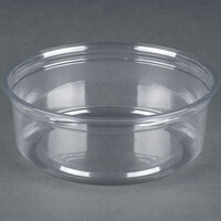 Fabri-Kal Alur RD8 8 oz. Recycled Customizable Clear PET Plastic Round Deli Container 50 / Pack