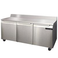 Continental Refrigerator SW72-BS 72 inch Worktop Refrigerator with Backsplash