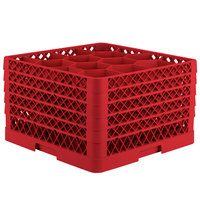 Vollrath TR18JJJJJ Traex Rack Max Full-Size Red 12-Compartment 11 7/8 inch Glass Rack