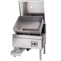 Cleveland SEL-40-TR 40 Gallon DuraPan Electric Open Base Tilt Skillet - 240V, 1 Phase, 18 kW