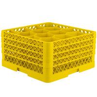 Vollrath TR18JJJJ Traex Rack Max Full-Size Yellow 12-Compartment 9 7/16 inch Glass Rack