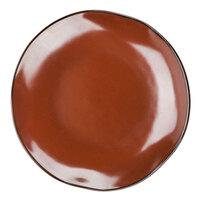 Tuxton GAR-006 Artisan Red Rock 10 1/4 inch China Plate - 12/Case