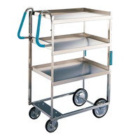 Lakeside 5915 Stainless Steel Three Shelf Ergo-One System Utility Cart - 35 3/8 inch x 18 5/8 inch x 46 3/4 inch