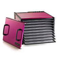 Excalibur D900RR Radiant Raspberry Nine Rack Food Dehydrator with Timer - 600W