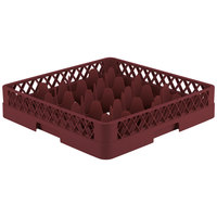 Vollrath TR18 Traex Rack Max Full-Size Burgundy 12-Compartment 3 1/4 inch Glass Rack