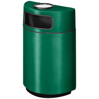 Rubbermaid FGH2436SU Half Round Open Front Empire Green Fiberglass Waste Receptacle with Rigid Plastic Liner and Sand Urn Cap Ash Tray 18 Gallon (FGFGH2436SUPLEGN)