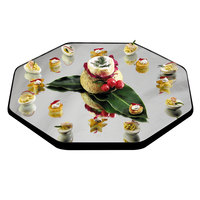 Geneva 269 12 inch Octagon Rimless Mirror Food Display Tray