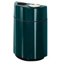 Rubbermaid FGH2436SUT Half Rounds Open-Top Hunter Green Fiberglass Waste Receptacle with Rigid Plastic Liner and Sand Urn Cap Ash Tray 24 Gallon (FGFGH2436SUTPLHGN)