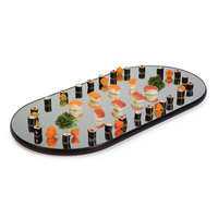 Geneva 264 Oval Rimless Mirror Food Display Tray - 16 inch x 32 inch