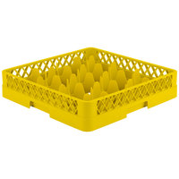 Vollrath TR18 Traex Rack Max Full-Size Yellow 12-Compartment 3 1/4 inch Glass Rack
