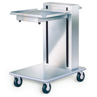 Lakeside 820 Stainless Steel Mobile Cantilever Tray Dispenser for 20 inch x 20 inch Trays