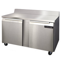 Continental Refrigerator SWF60-BS 60 inch Two Door Worktop Freezer with Backsplash - 17 cu. ft.