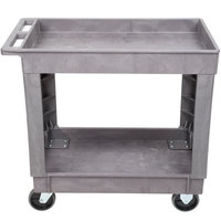 Lakeside 2521 Plastic Deep Well Two Shelf Utility Cart - 34 1/2 inch x 17 1/2 inch x 32 3/4 inch