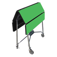 Lakeside 416 Mobile Square Top Fold-Up Room Service Table with Green Finish - 22 1/4 inch x 36 inch x 30 inch