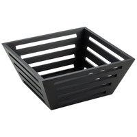 American Metalcraft TWBB94 9 1/2 inch Square Tapered Birch Bread Basket