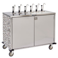 Lakeside 70271 Stainless Steel E-Z Serve 12-Pump Condiment Dispensing Cart with Gray Sand Finish for 3 Gallon Condiment Pouches - 27 1/2 inch x 50 1/4 inch x 48 1/2 inch