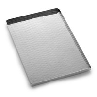 American Metalcraft HMST12 12 inch x 8 1/4 inch Rectangular Hammered Stainless Steel Tray