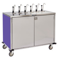 Lakeside 70271 Stainless Steel E-Z Serve 12-Pump Condiment Dispensing Cart with Purple Finish for 3 Gallon Condiment Pouches - 27 1/2 inch x 50 1/4 inch x 48 1/2 inch