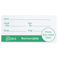Noble Products 2 inch x 4 inch Removable Product Day Label - 500 / Roll