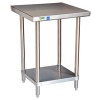 Regency 18 Gauge 24 inch x 24 inch 430 All Stainless Steel Commercial Work Table with Undershelf