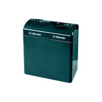 Rubbermaid FGFGR3418TC Recycling Centers Hunter Green Fiberglass 2-Section Can/Trash Recycling Station with Rigid Plastic Liner (2) 23 Gallon (FGFGR3418TCPLHGN)