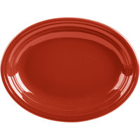 Homer Laughlin 457326 Fiesta Scarlet 11 5/8 inch Medium Oval Platter   - 12/Case