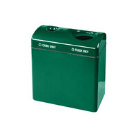 Rubbermaid FGFGR3418TC Recycling Centers Empire Green Fiberglass 2-Section Can/Trash Recycling Station with Rigid Plastic Liner (2) 23 Gallon (FGFGR3418TCPLEGN)