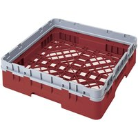 Cambro BR414416 Cranberry Camrack Full Size Open Base Rack with 1 Extender