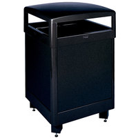 Rubbermaid FGR38HT Dimension Standard Series Hinged-Top Black Solid Panels Square Steel Waste Receptacle with Rigid Plastic Liner 38 Gallon (FGR38HTSBKPL)