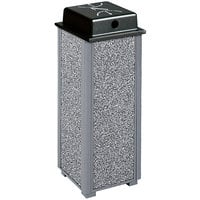 Rubbermaid R40WU Aspen Gray with Dove Gray Stone Panels Square Steel Cigarette Urn with Weather Shield (FGR40WU2000)
