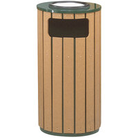 Rubbermaid FGR2350 Regent 50 Series Flat-Top Empire Green Steel and Polyethylene Round Waste Receptacle with Rigid Plastic Liner 12 Gallon (FGR2350PLEGN)
