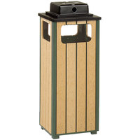 Rubbermaid FGR14WU50 Regent 50 Series Empire Green Steel and Polyethylene Square Ash/Trash with Weather Urn and Rigid Plastic Liner 12 Gallon (FGR14WU50PLEGN)