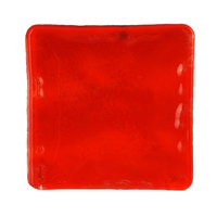 10 Strawberry Street HD2583RO Izabel Lam Heirloom 12 inch Red Glass Square Plate - 12 / Case