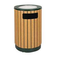 Rubbermaid FGR56SU50 Regent 50 Series Empire Green Steel and Polyethylene Round Ash/Trash with Rigid Plastic Liner 40 Gallon (FGR56SU50PLEGN)