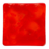 10 Strawberry Street HD920RO Izabel Lam Heirloom 5 1/2 inch Red Glass Square Plate - 36/Case