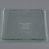 10 Strawberry Street HD920OC Izabel Lam Morning Tide 5 1/2 inch Ocean Clear Glass Square Plate - 36 / Case