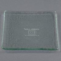 10 Strawberry Street HD920OC Izabel Lam Morning Tide 5 1/2 inch Ocean Clear Glass Square Plate - 36/Case