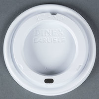 Dinex DX50008775 Fenwick EZ Sip Translucent Lid for Dinex DX5200 Fenwick 5 oz. Insulated Bowls and DX5000 Fenwick 8 oz. Insulated Mugs - 1000 / Case